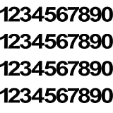 40 Piezas 4 Juegos Pegatinas Impermeables de Números...