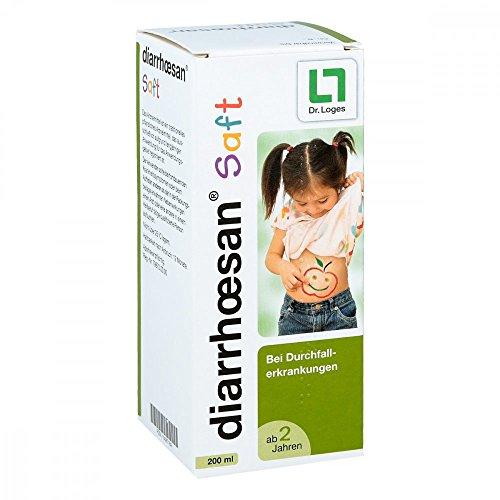 diarrhœsan® Saft 200 ml - Bei Durchfallerkrankungen für Kinder ab 2 Jahren - Pflanzliches Arzneimittel mit Kamillenextrakt und Apfel-Pektin - krampflösend, beruhigend und entzündungshemmend
