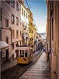 Poster 50 x 70 cm: Tram in Lissabon von Jörg Gamroth -