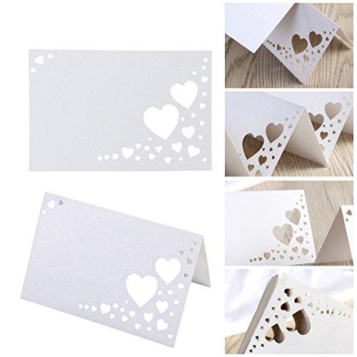 ULTNICE 50 segnaposto da tavolo cartellini segnaposto fatti per matrimoni banchetti partito decorazione