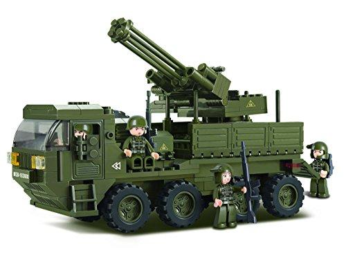 Sluban M38-B0302 - Baukasten - Armee -  Flugabwehrgeschütz-Wagen