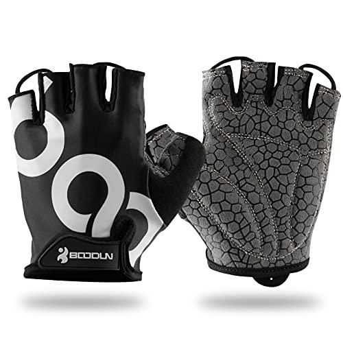 Orlegol Guantes de ciclismo, guantes antideslizantes y amortiguadores, bicicleta montaña, fitness, deporte, con gel, para hombre mujer