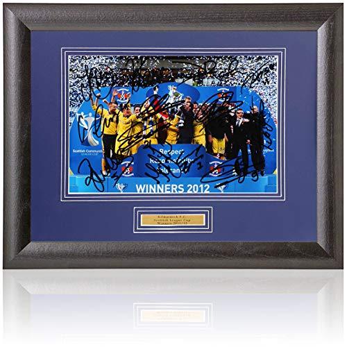 BSM Kilmarnock F.C. Scottish League Cup Winners Hand Signed 12x8'' Photograph AFTAL COA