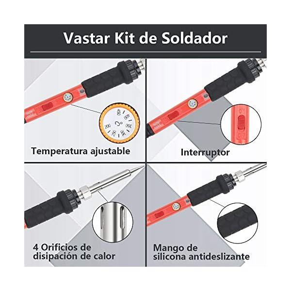 Vastar Kit de Soldador 16Pcs- Soldadores de Estaño con Temperatura ajustable