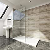 Elegant 800x1850mm <span class='highlight'>Walk</span> <span class='highlight'>in</span> <span class='highlight'>Shower</span> Enclosure Wet Room Screen Panel 6mm Tougheded Safety Glass with Support Bar