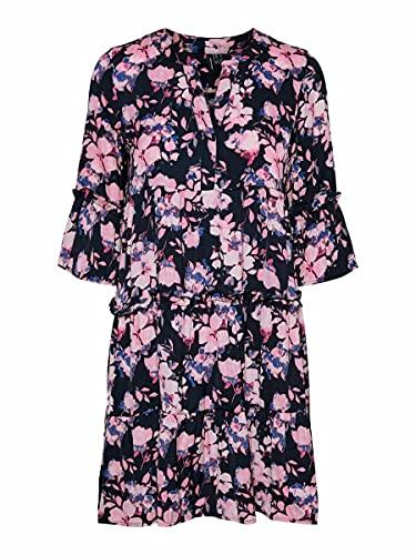 Vero Moda VMINES DICTHE ¾ Tunic WVN Vestido, Navy Blazer/AOP:Ines, M para Mujer