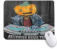 マウスパッド Mouse Pad Funny Pumpkin DJ Non-Slip Rubber Base for Computers Laptops