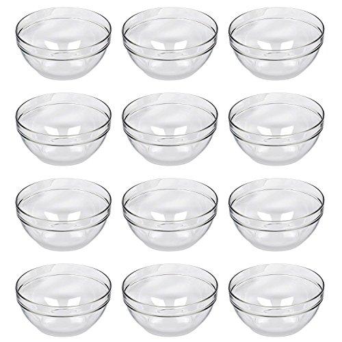 Luminarc H4703 Empilable Salatschale/Schüssel, Glas, stapelbar, Ø 12 cm, klar (12 Stück)