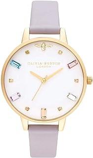 Olivia Burton Womens Quartz Watch, Analog Display and Leather Strap OB16RB11