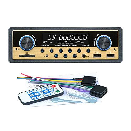 prasku Sistemas de Audio de 12 V Puerto USB Dual Llamadas Manos Libres Monitor LCD Reproductor MP3 - de Oro