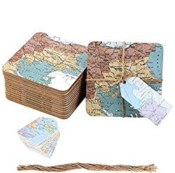 travel themed wedding favors map coasters