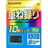 FUJIFILM VHS 重ね録り 10巻パック 120分 3倍モード6時間 ビデオテープ T-120X10C F AG H