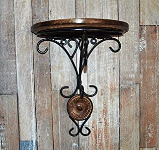 Urban Art Store Wooden and Wrought Iron Wall Bracket