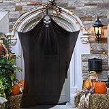 Halloween Colgante Fantasma Decoraciones, VíSpera de Todos Los Santos Fantasma Volador, Esqueleto Colgante, Accesorio Decorado de Halloween para Fiesta, Bar, Veranda, Porche, Aleros, Casa Encantada