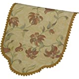 Tropicana Decorative Chair Back Floral Design Antimacassar Furniture Cover with Lace Trim