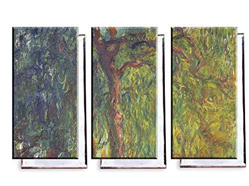 Unified Distribution Claude Monet - Trauerweide - Klassisches Gemälde - Replik auf Leinwand Dreiteiler (120x80 cm)