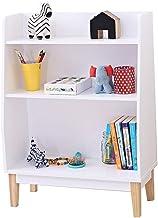 LHQ-HQ Kids Book Shelf Boekenplankopslag Display Stand Plank 3-Tier Plankeenheid Hout & MDF Composiet Boekenkast Opslageen...