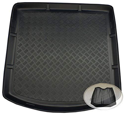 ZentimeX Z3320839 Geriffelte Kofferraumwanne fahrzeugspezifisch + Klett-Organizer (Laderaumwanne, Kofferraummatte)