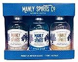 Manly Spirits Australian Dry, Coastal Citrus, Barrel Aged Gin (Whiskey) Gift Set Trio Pack