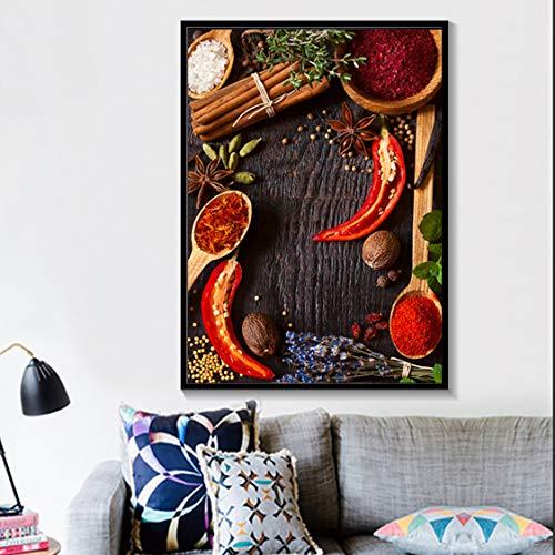 Danjiao Rock Sugar Star Anis Pfeffer Leinwand Malerei Wandkunst Poster Und Drucke Moderne Küche Wandbilder Für Esszimmer Dekoration Wohnzimmer 60x90cm