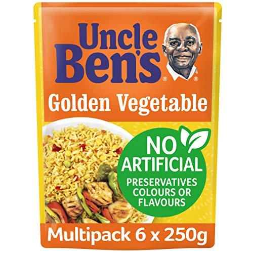 Uncle Ben's Express Goldener Gemüseres, 250 g, 6 Stück