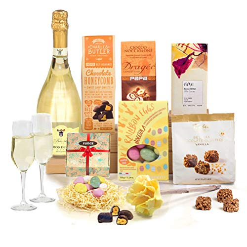 Eggstravaganza Easter Prosecco Chocolate Hamper Gift - FREE UK Delivery