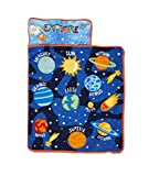 Funhouse Explore Planets & Outer Space - Kids Nap Mat Set – Includes Pillow and Fleece Blanket – Great for Kids Sleeping at Daycare, Preschool, or Kindergarten - Fits Napping Toddlers or Children