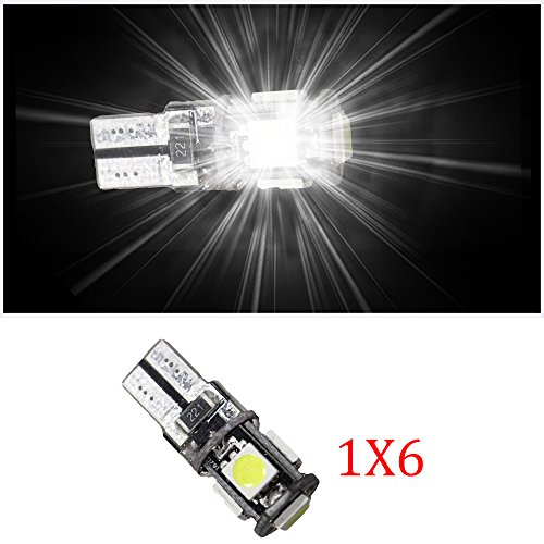 Lampes LED pour intérieur de voiture - Muchkey® T10 - 5050SMD -Blanc - Lot de 6