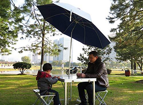 Silla Camping 3-4 Personas, Plegable Aleación De Aluminio Portátil Al Aire Libre Vehículo Calle Mesa Silla-Mesas y sillas+2Paraguas de arroz