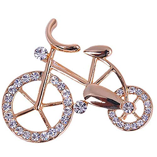 Diamoen Women Girls Bike Brooch Pin Female brooch pin Crystal brooch Banquet Prom Wedding Buckle Bicycle Crystal Brooch