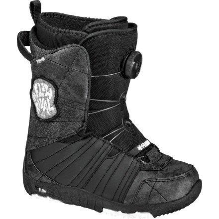 Flow Rival Jr. Boa snowboard Boot–Kids 'nero/nero, 13.0