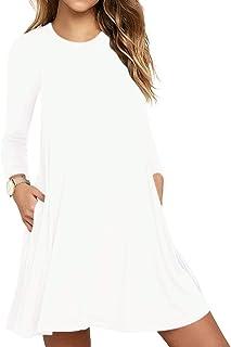 Women's Casual T-Shirt Long Sleeve Swing Dress