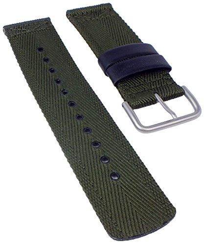 Correa de reloj verde para Casio Pro Trek PRG-600YB Textil/Leder Mix