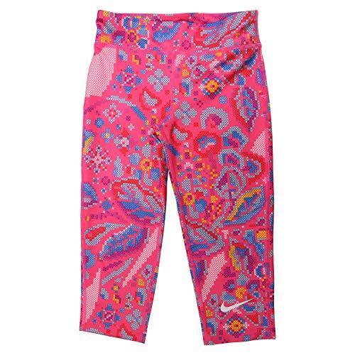 Nike All in Capri Femme Pantalon Fille Black/Black/Pink Rise FR: S (Taille Fabricant: M)