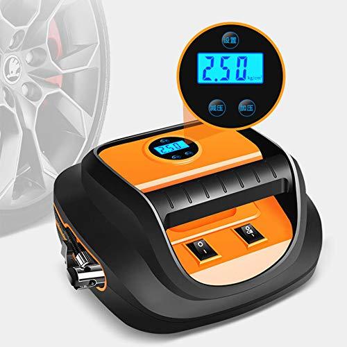 QINGJIA Bomba de neumáticos de Coche portátil 12V Inflador rápido Mini LED Pantalla Digital 60s Inflación COMPRESOR DE Aire LNTELLIGENT Pantalla Digital