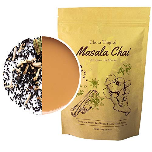 Organic Chai Tea by Mana Organics – A Masala Chai Tea Made with Whole Masala Spice: Cinnamon, Cardamom, Cloves, Pepper, Staranise and Ginger. An Authentic Indian Chai Tea Recipe.