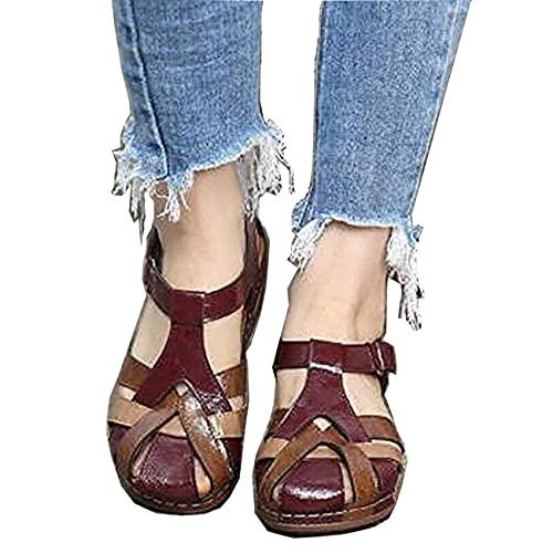 Womens Orthopedic Casual Platform Sandal,Comfy Chic Slope Wedge Platform Hook and Loop...