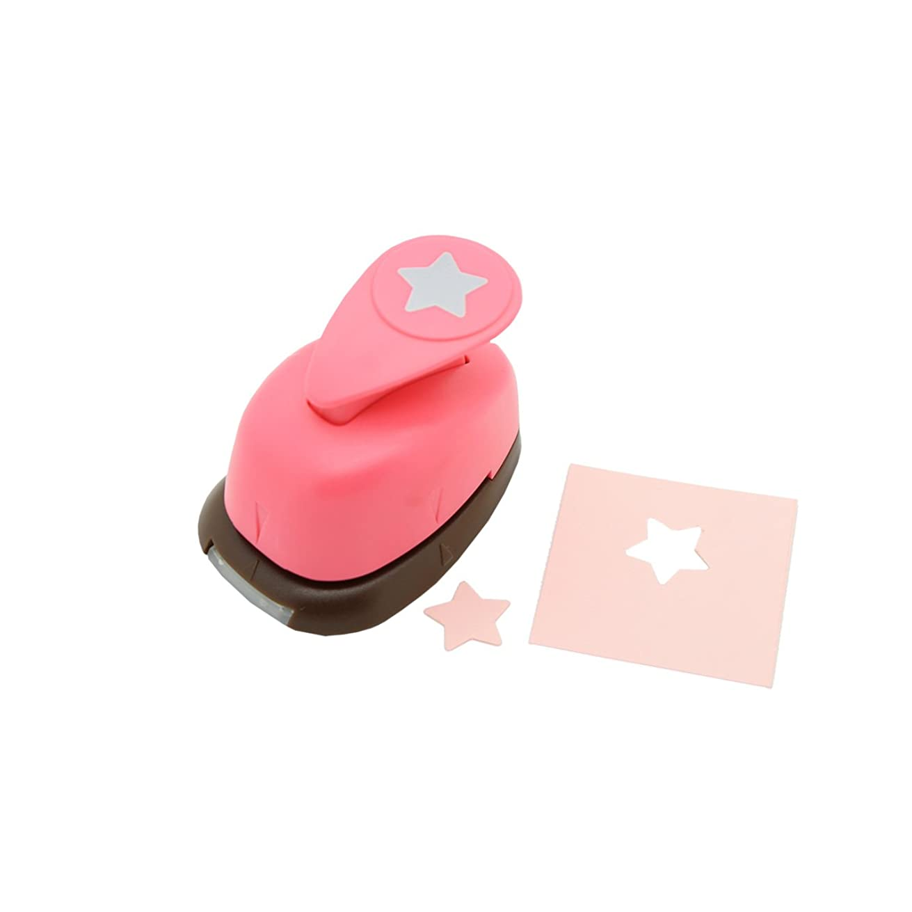 Bira 5/8 inch Star Shape,Christmas Punch, Lever Action Craft Punch for Paper Crafting Scrapbooking
