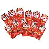 ABOOFAN 12 rote Umschläge zum chinesischen Neujahr, Hongbao Jahr des Ochsens, Geschenktüten für Geldgeschenke, Kartenhalter für Neujahr, Frühling, Festival, Weihnachten