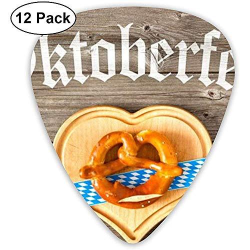 Oktoberfest Bier Festival Klassieke Gitaar Picks (12 Pack) voor Elektrische Gitaar, Akoestische Gitaar, Mandoline en Bas