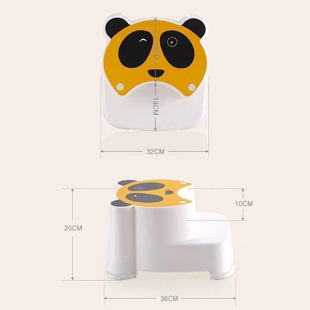 Escabeau Pots Baignoire Tabouret Étape Pieds Tabouret Tabouret de Bain Winking Panda Toilettes Tabouret de Bain Tout-Petit chaises Pliantes (Color : Red) Red