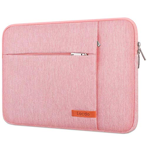 Lacdo 13 inch Laptop Sleeve Case for 13 inch New MacBook Pro A2338 M1 A2251 A2289 A2159 A1989 A1706 A1708   13 inch New MacBook Air A2337 M1 A2179 A1932, 12.9' New iPad Pro 4th 3rd Computer Bag, Peach
