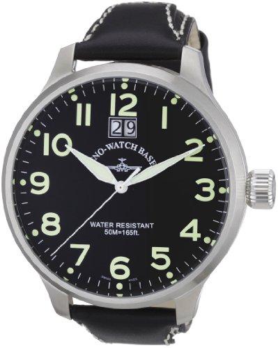 Zeno Watch Basel 6221Q-a1 - Reloj analógico para Caballero de Cuero Negro
