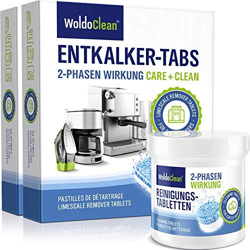 2-Phasen Reinigungstabletten & Entkalkungstabletten Set für Kaffeevollautomaten & Kaffeemaschine