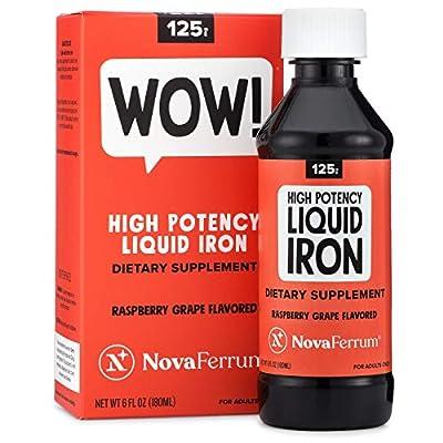 NovaFerrum 125 High Potency Liquid Iron Supplement for Adults