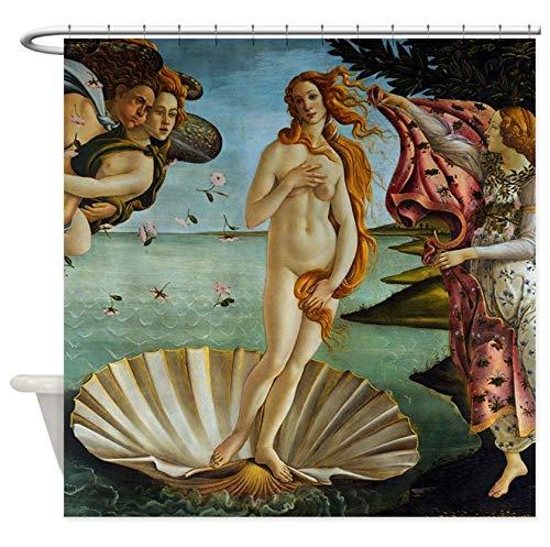 Nologo 3D Gedruckter Duschvorhang 180x180cm Botticelli Geburt von Venus Dekorationsstoff