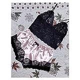 OUMYLFCNEC Pijama 1 Set Fashion Womens Lace Sleepwear Ropa Interior Tops Shorts Set Pijamas Sports Sports Ropa de Dormir Nightwear Conjunto de Pijama para Mujer (Color : G, Size : 3XL)