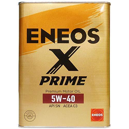 ENEOS X PRIME (エックスプライム) エンジンオイル 5W-40 SN C3 (100%化学合成油) 4L缶