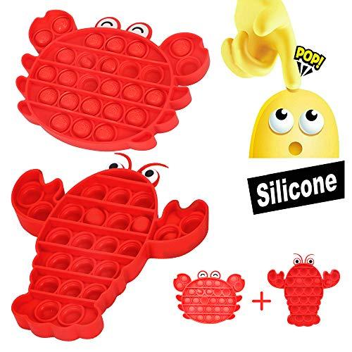 MMTX Pop Pop Bubble Sensory Fidget Push Toys, Pop It Fidget Juguete Sensorial para Aliviar El Estrés Juguete para Autismo Necesidades Especiales, Fun Squeeze Toys & Educational Gift Toys for Kids