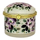 Hand Painted Purple Lotus Flower Jewellery Case - JB-421